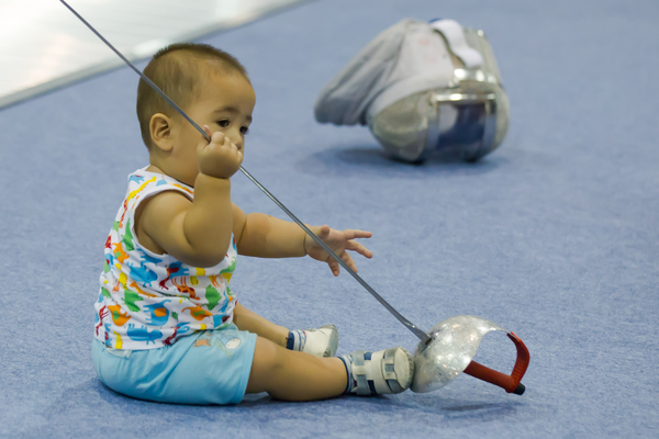 Never too young to start fencing
