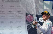 Champagne drops of triumph F1 Driver Lewis Hamilton of Great Britain celebrates his victory after winning the Hungarian F1 Grand Prix in Mogyorod (about 20km north-east from capital city Budapest), Hungary on July 28, 2013.